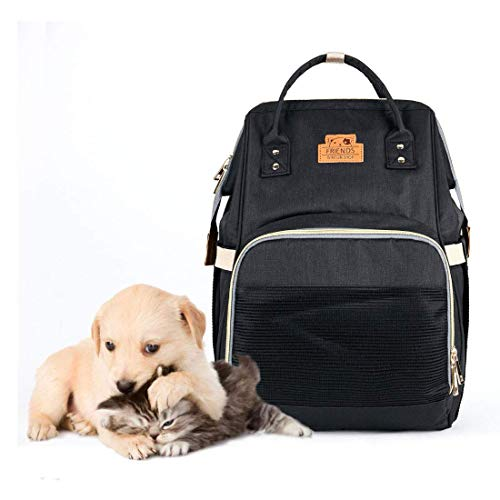 Pet Backpack Travel Carrier with Mesh Window for Dogs...