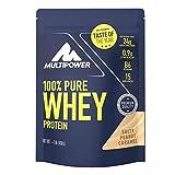 Multipower 100% Pure Whey Protein – wasserlösliches Proteinpulver mit Salty Peanut Caramel Geschmack – Eiweißpulver mit Whey Isolate als Hauptquelle – Vitamin B6 für Proteinstoffwechsel – 450g