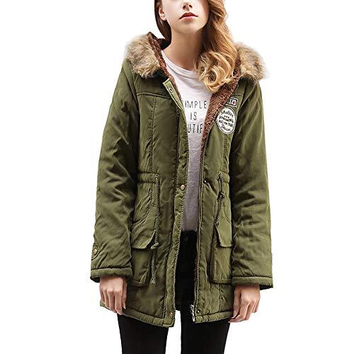 Initial dames winterjas met capuchon pluche lang deel Large Size Slim Cotton Suit