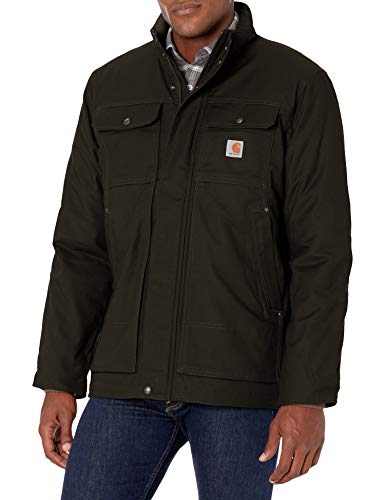 Carhartt mens Full Swing Relaxed Fit Quick Duck Insulated Traditional Coat, Black, X-Large US