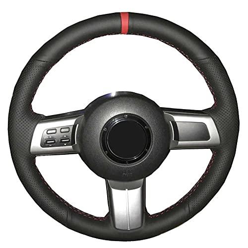 HJPOQZ Cubierta del Volante del Coche, para Mazda MX-5 Miata 2009-2012 2013 2014 RX-8 2008-2013 CX-7 CX7 2007 2008 2009