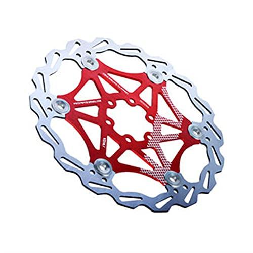 KSHYE Freno de Freno de Bicicleta Freno MTB DH DC Rotores de Freno de hidromasaje Flotador de Freno Multicolor Piezas de Bicicleta (Color : 160MM Red)
