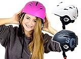 SkullCap® Ski & Snowboard Helmet for Men Women Boys & Girls, Pink Colour