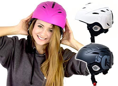 SkullCap® Casco da Sci e Snowboard per Uomini Donne, Ragazzi & Ragazze (Nero, L (58-61 cm))