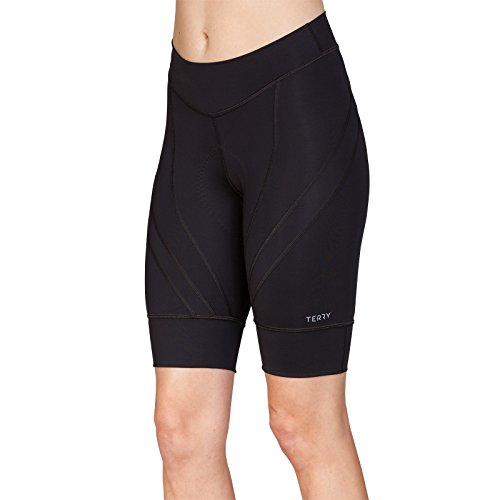 Terry Women's Euro Cycling Short - Ladies Riding Compression Bike Shorts for All Day Riding– Black – X Large