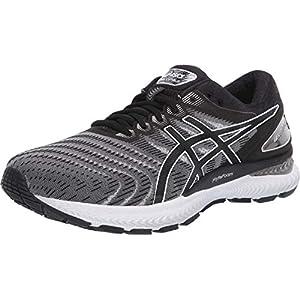ASICS Men's Gel-Nimbus 22 Running Shoes, 10, White/Black