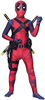 Verhero Child Costume Spandex Halloween Superhero Bodysuit Fullbody Zentai Suit Kids No Weapon,XS