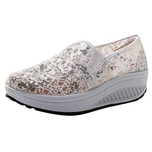 Sportschuhe Damen Mesh atmungsaktiv Bling Sport Running Shake Schuhe Sneakers