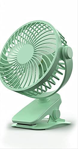 Usb clip-on small fan,Ultra-quiet and large air volume,Multi-scene use,Removable and washable (green)