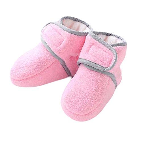 Coton petites chaussures épaisses chaudes Chaussures Hiver Chaussures bébé Semelle en caoutchouc pou