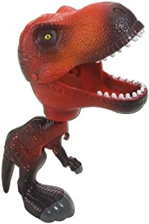 Wild Republic T-Rex Toy, Kids Gifts, Squeeze Trigger to Close Mouth, Red Chompers, 9.5
