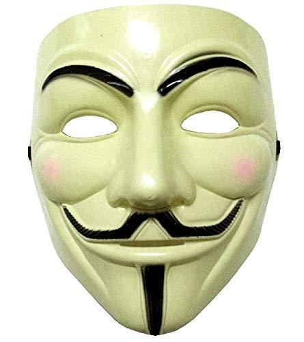 Lovelegis Mscara - Color Amarillo - Carnaval - Halloween - Mujer - Hombre - v de Venganza - Guy Fawkes - pelcula - Famoso - annimo - Idea de Regalo para cumpleaos