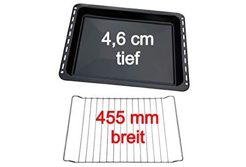 UD UNIQ DEALZ Set 455x370x46 mm extra tiefes Backblech und Backrost passend für Bosch/Siemens/Constructa/Neff BSH-Gruppe für Teile Nr. 675876 und 662999 / Balay/Profilo/Samsung/Gorenje/Teka/Beko