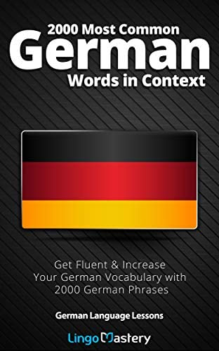 2000 Most Common German Words in Context Get Fluent Increase Your German Vocabulary with 2000 product image