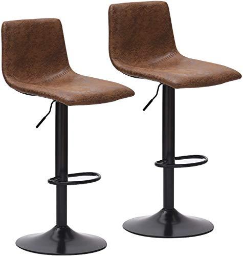 Barhocker höhenverstellbar Barhocker 2er set Barstuhl mit Rückenlehne Bistrohocker 360° Drehstuhl für Hausbar Küche Einfache und schnelle Montage