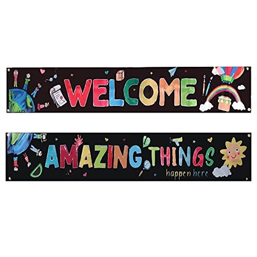 Banner para el aula y carteles para decoraciones, mentalidad educativa, motivadora e inspiradora para profesores y estudiantes