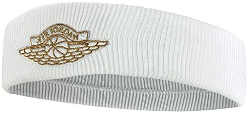 Nike Wings Headband 2.0, Fascia Jordan Unisex Adulto, Bianco, Unica