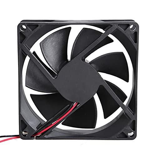 9025S 12V 0.2A sin escobillas DC 7 cuchillas ventilador de enfriamiento con 2 alambres 92x92x25mm carcasa de plástico