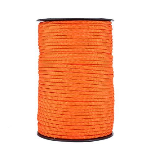 Demeras Cuerda de paracaídas, cuerda de cuerda de paracaídas multifunción resistente al desgaste Paracord para salvar vidas para tendedero (naranja)