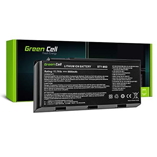 Green Cell Batería BTY-M6D para MSI GT660 GT680 GT680R GT683 GT683DX GT683DXR GT683R GT780 GT780D GT780DX GT780DXR GX780 GT60 GT70 GX60 GX70, Medion Erazer X6811 X6812 X6813 X6817 X6819 X7817 Portátil