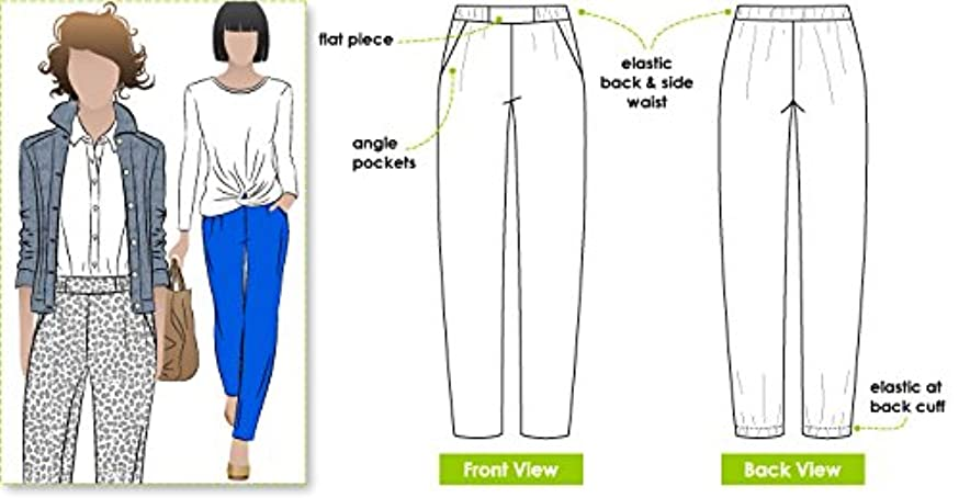 Style Arc Sewing Pattern - Lola Pant (Sizes 04-16) - Click for Other Sizes Available