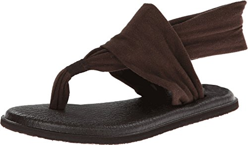 Sanuk Sandals–Sanuk Yoga Sling 2Sandals–Chocolate, Color Marrón, Talla 37 1/3