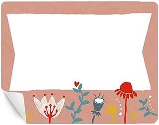 MATTE Papieraufkleber eckige Etiketten f/ür Schule Schul Motiv LEINEN im Retro Vintage Design mit Herz Hochzeit 15 Freitext Aufkleber zum selbst beschriften Marmelade /& als Geschenketiketten