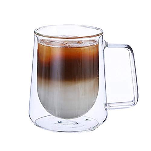 KWHY 200 Ml / 300 Ml Mok Met Dubbele Wand Kantoormokken Warmte-isolatie Dubbele Koffiemok Koffieglas Kop Drinkware Melkgeschenken Voor Vrienden, 300 Ml Geen Logo-beker