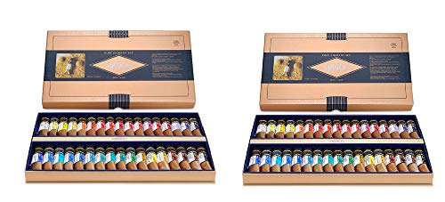 Mission MWC-1534P Gold Class Pure Pigment Watercolors Set 15ml 34 Colors (Count of 2)