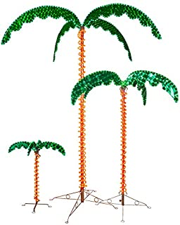 led rope light palm tree