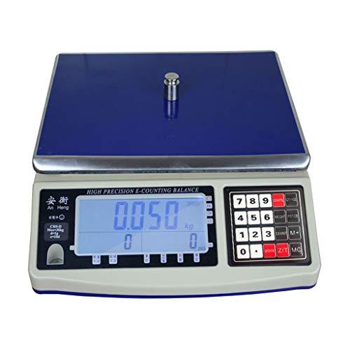 Elektronische Digitale Weegschaal - 30kg Weegschaal Met Hoge Precisie, Industrieel, Commercieel Winkelplatform (Capacity : 7.5kg\0.2g)