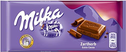 Milka Alpenmilch Schokolade Zartherb, 100g
