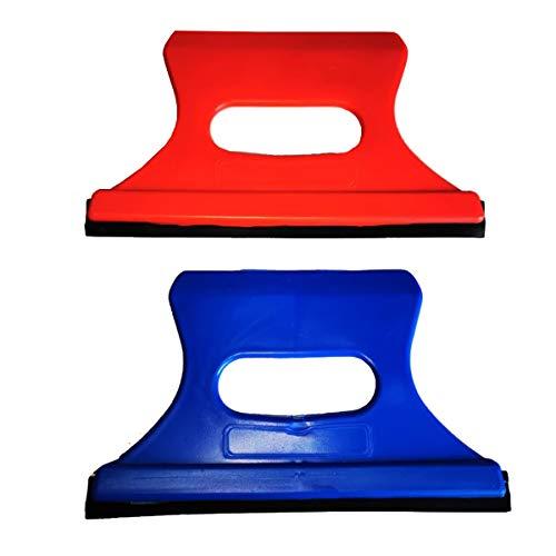 Pack de 2 Rascadores de Hielo para Coche, para descongelar Parabrisas y Limpieza de Nieve. Diseño Moderno para NO rayar ningún Cristal. Color ENVÍADO AL Azar. Tamaño: 14 x 8 cm. Material Resistente.