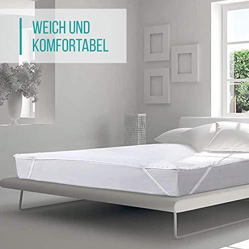 VÄLSON Kinderbett Matratzenschoner 70 x 140 cm Anti-Milben Anti-Bakteriell Matratzenschutz Matratzenauflage Wasserdicht