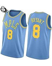 Kobe Bean-Bryant-8# Minneapolis Lakers Basketball Jersey, City Edition Retro Mesh Sweeveless Chaleco Deportivo, cómodo y Transpirable para Hombres, Unisex