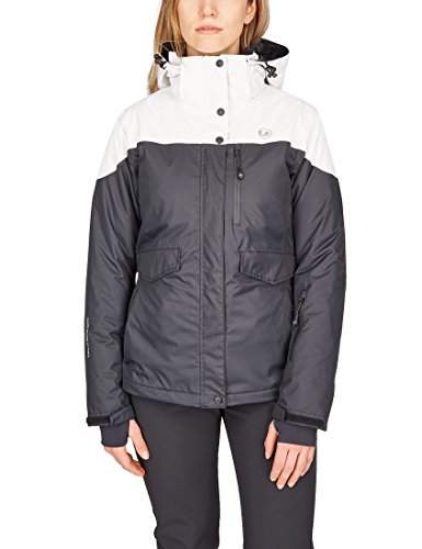 Ultrasport Damen All Seasons 3in1 Multi-funktions-jacke, Schwarz/Weiß, 2XL