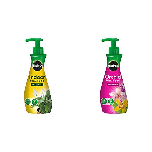 Miracle-Gro Indoor Concentrated Plant Food 236ml & Orchid Concentrated Plant Food 236ml