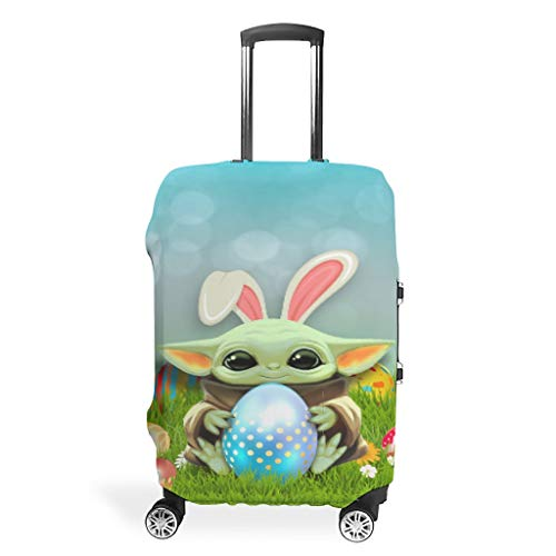 Easter yoda Eggs Cool Travel Luggage Protective Covers for 19'-32' Suitcase White s (49x70cm)