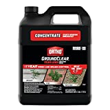 Ortho GroundClear Year Long Vegetation Killer1 - Concentrate, Visible Results in 3 Hours, Kills Weeds and Grasses to the Root When Used as Directed, Up to 1 Year of Weed and Grass Control, 2 gal.