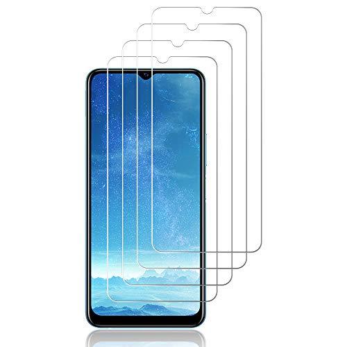 J&D - Pellicola protettiva per schermo in vetro per Vivo Y20s (4 pezzi), non copertura completa, in vetro temperato HD trasparente, balistico per Vivo Y20s