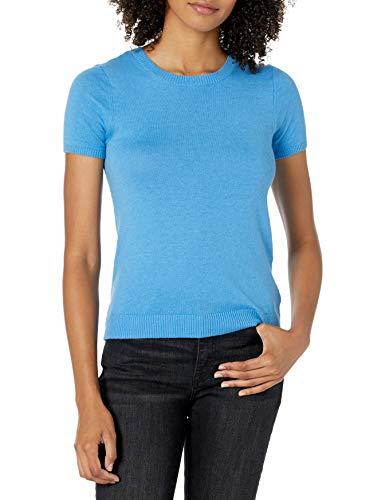 Marque Amazon - Daryl T-shirt Ajusté pour Femme, Manches Courtes, Encolure Ras-du-cou par The Drop