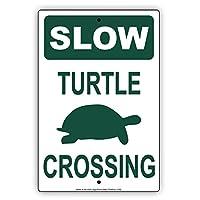"Slow Turtle Crossing withグラフィックno Speeding Hilarious Epic面白いノベルティCautionアラートNoticeアルミニウム注意メタ・サインプレート 18""x24"""