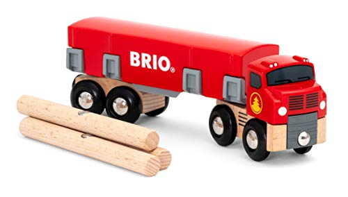 BRIO World Lumber Truck for Kids age 3 years and up compatible with all BRIO train sets