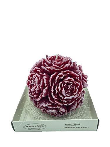 Candela sfera di Rose Aroma piccola (Bordeaux)