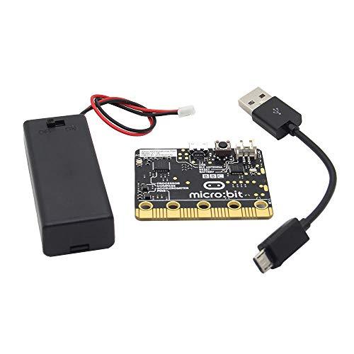 weichuang Elektronisches Zubehör Micro:Bit Go (On-the-go Starter Bundle) Micro:bit Development Board + AAA Batteriehalter + USB-Kabel Kit für Programmierung Elektronikzubehör Elektronikzubehör