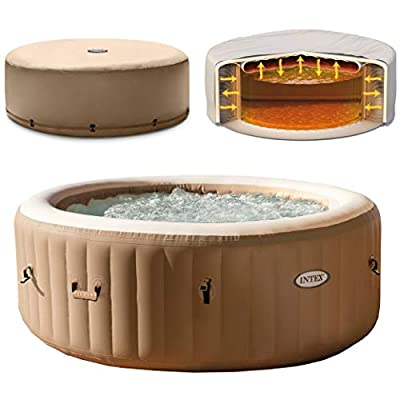 Intex 28427E 85in PureSpa Inflatable Spa, Tan