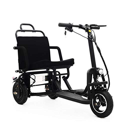 XYDDC Portátil Plegable Scooter - 3 Ruedas Scooters eléctricos para Adultos/Ancianos...