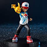 QAL Pokemon Anime Figure Ash Ketchum Model Decoration Figurine Role Toys Statue Collectible 15CM