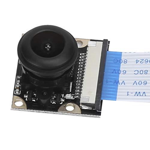 3,3 V Fish Eye 1080P Mini-Nachtsicht-Kameramodul Fisheye-Kamera Hochempfindliche 5 MP Kompatibel mit pi 4B / 3B + / 3B / 2B