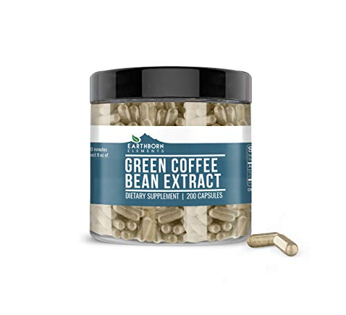 Green Coffee Bean Extract, 200 Capsules, 840 mg Servings, Non-Stimulant, Lab-Tested & Gluten-Free, Pure, Non-GMO, No Additives or Fillers, Made in USA